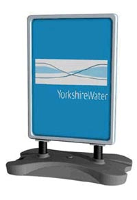 yorkshire water directional sign