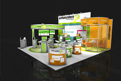 an example of exhibition stand design