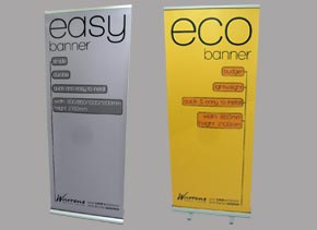 example of a banner stand